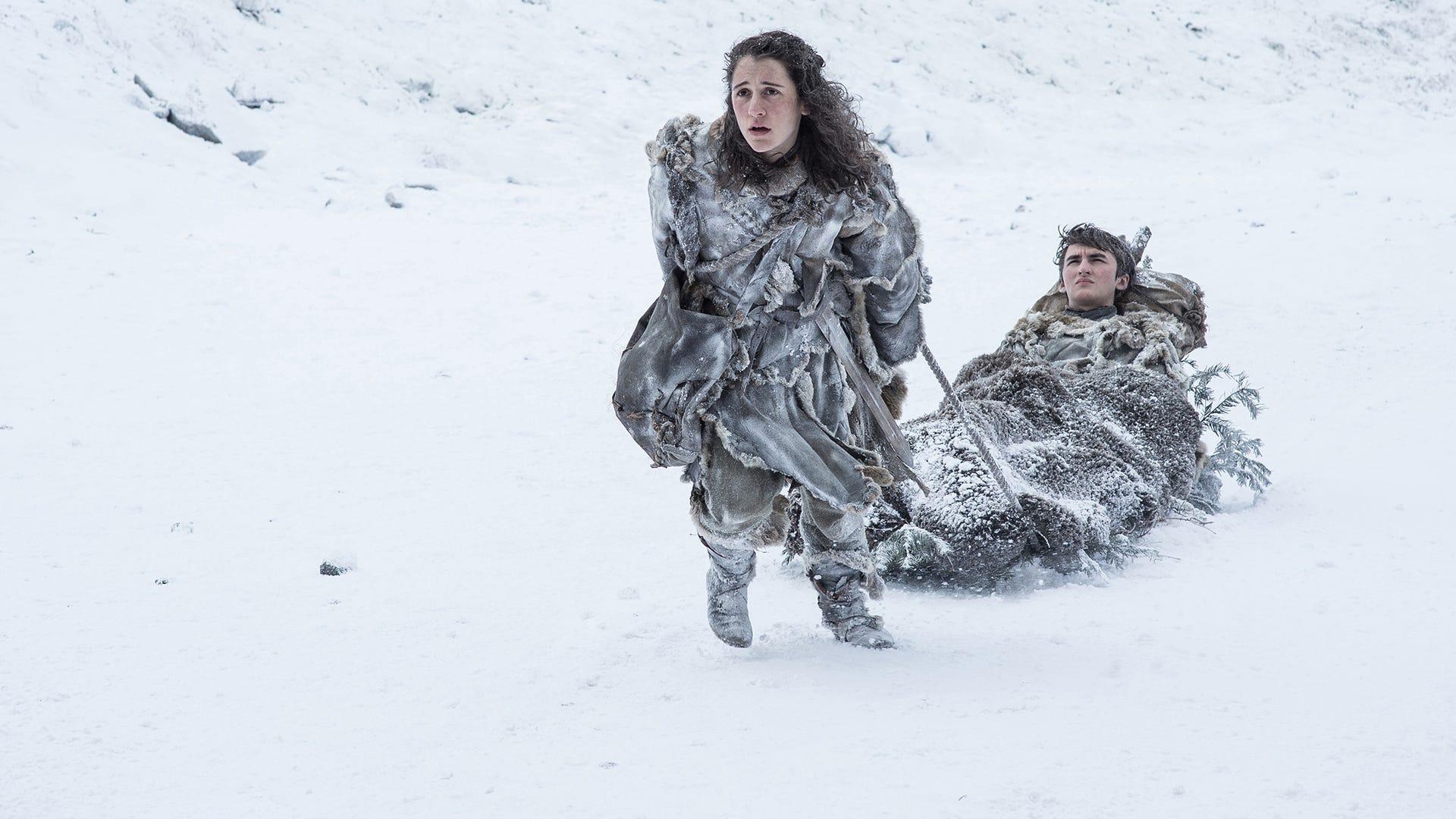 Ellie Kendrick, Isaac Hempstead Wright; Game of Thrones