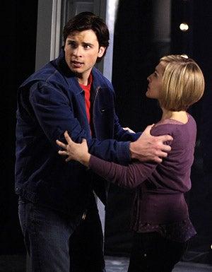 "Smallville - Season 8 - ""Eternal"" - Tom Welling as Clark Kent and Allison Mack as Chloe Sullivan"