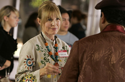 "Monk - ""Mr. Monk Paints His Masterpiece"" - Victoria Tennant as ""Ms. Benson"", Tony Shalhoub as ""Adrian Monk"""