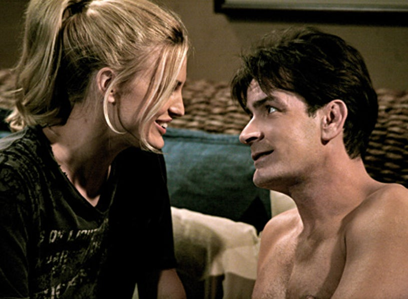 """Two and a Half Men - """"Young People Have Phlegm Too"""" - Charlie Sheen, Brooke D'Orsay"""