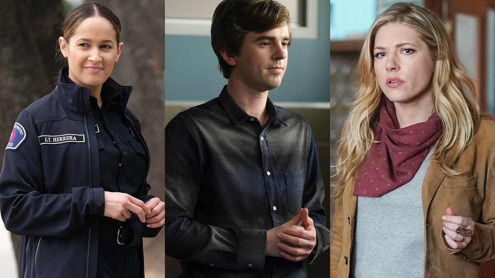 Jaina Lee Ortiz (Station 19), Freddie Highmore (The Good Doctor), Kathryn Winnick (Big Sky)