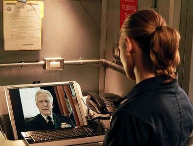"Last Resort - Season 1 - ""Pilot"" - Bruce Davidson and Daisy Betts"