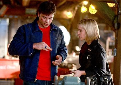 "Smallville - Season 7 - ""Blue"" - Tom Welling as Clark Kent and  Allison Mack as Chloe Sullivanin"