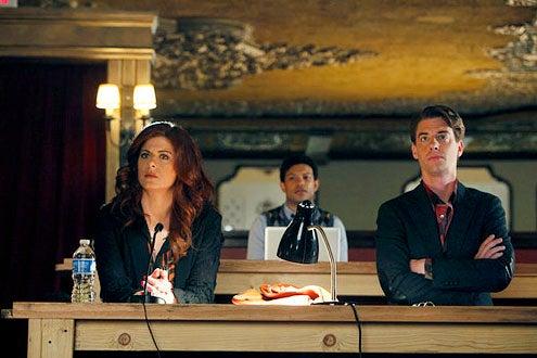 "Smash - Season 1 - ""Previews"" - Debra Messing, Jamie Cepero and Christian Borle"