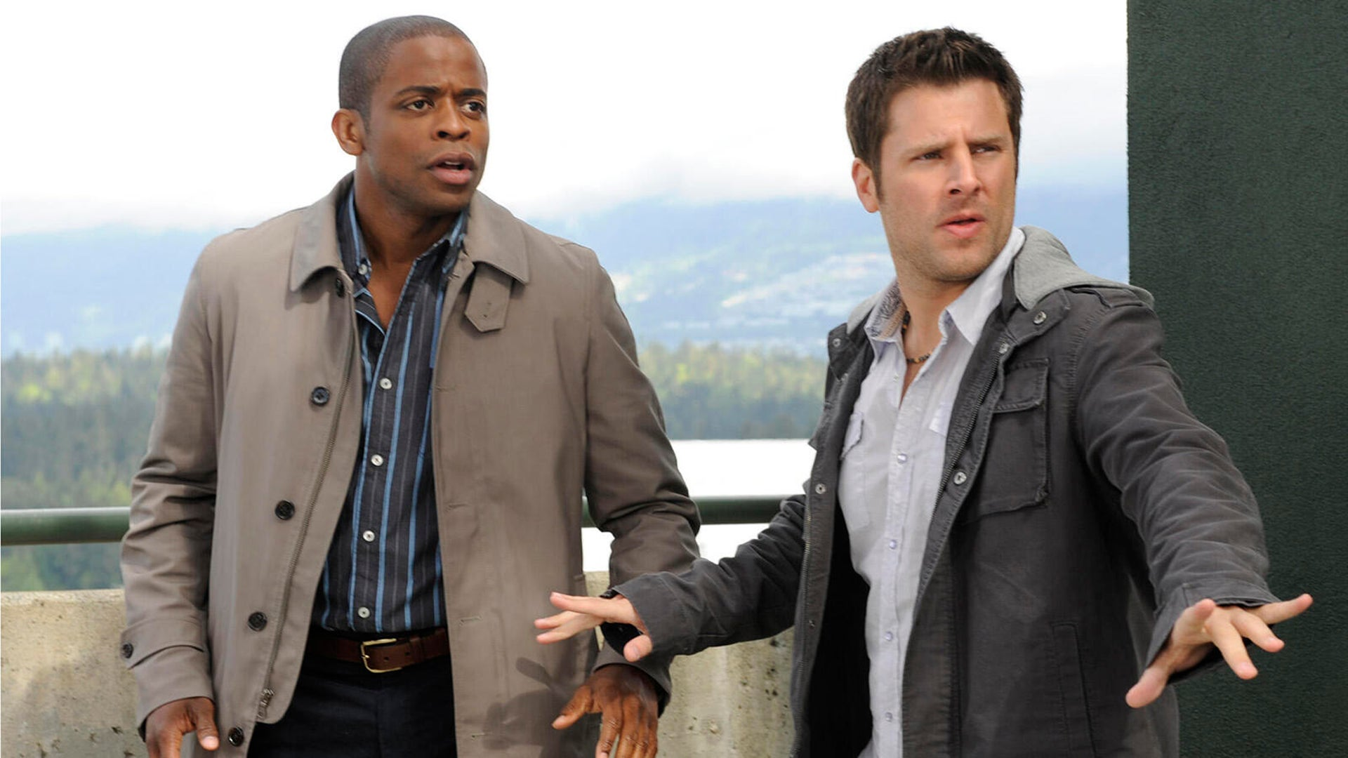 Dule Hill and James Roday, Psych