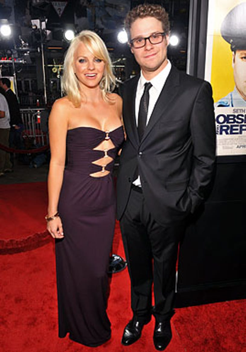 """Anna Faris and Seth Rogen - The """"Observe And Report"""" Los Angeles premiere, April 6, 2009"""