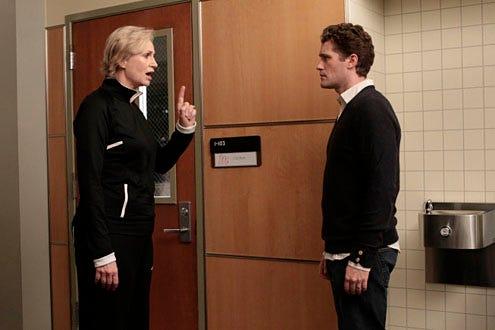 "Glee - Season 1 - ""Mash-Up"" - Jane Lynch as  Sue and Matthew Morrison as Will"
