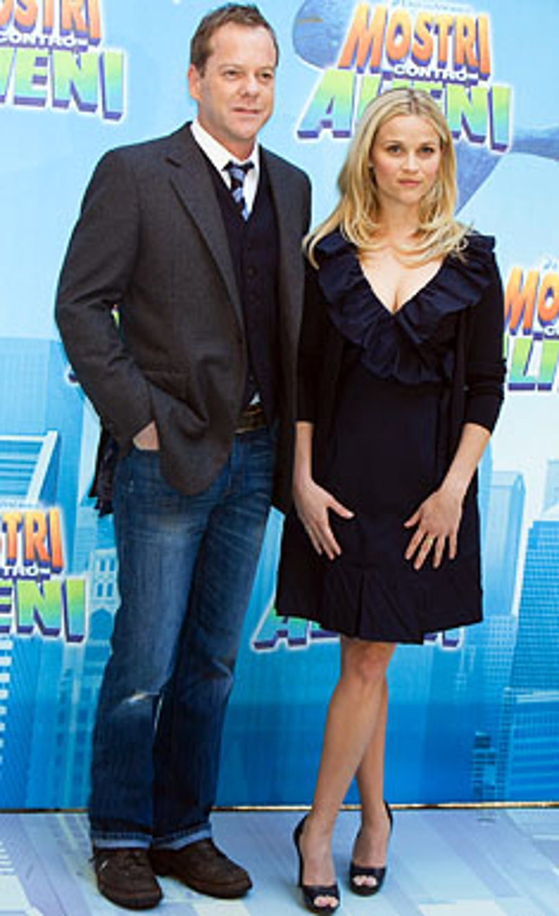 Kiefer Sutherland and Reese Whitherspoon - The 'Monsters Vs. Aliens' photocall in Rome Italy, March 13, 2009