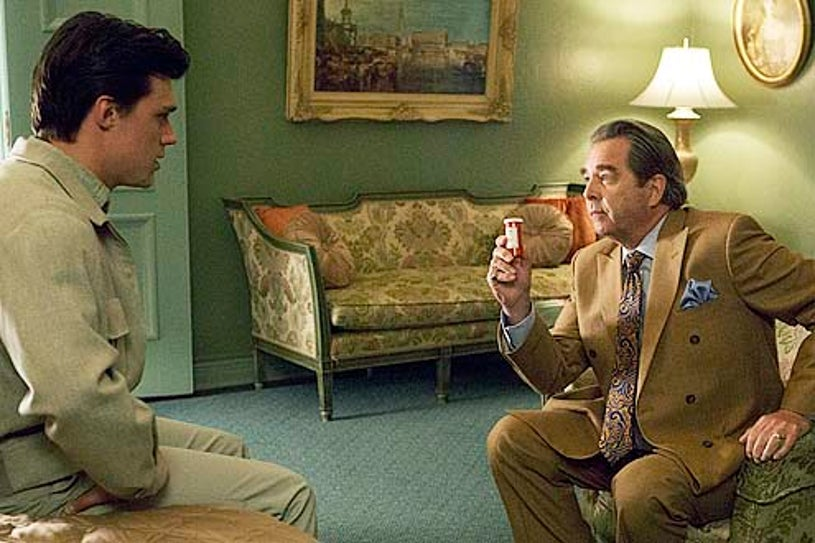 """Masters of Sex - Season 1 - """"Love and Marriage"""" - Finn Wittrock and Beau Bridges"""