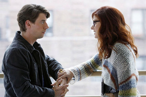 "Smash - Season 1 - ""Pilot"" - Christian Borle as Tom Levitt and Debra Messing as Julia Houston"