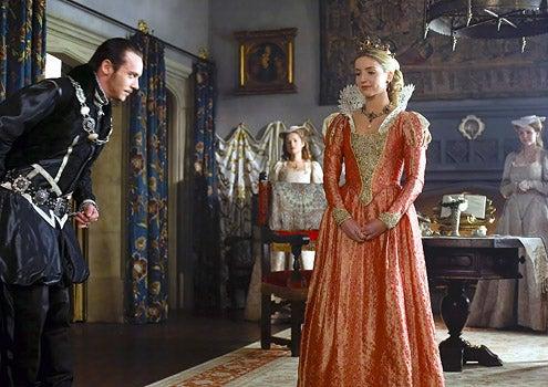 The Tudors - Season 3 - Episode 1 - Jonathan Rhys Meyers as Henry VIII and Annabelle Wallis as Jane Seymour
