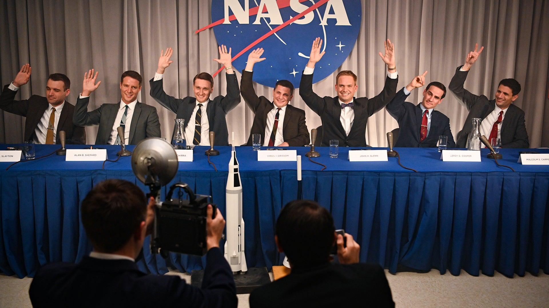 Micah Stock, Michael Trotter, Aaron Staton, Patrick J. Adams, Jake McDorman, Colin O'Donoghue, James Lafferty, The Right Stuff