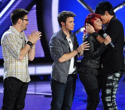 American Idol - Season 8 - Danny Gokey, Kris Allen, Allison Iraheta and Adam Lambert