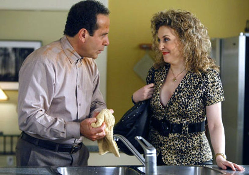 "Monk - Season 8 - ""Mr. Monk and Sharona"" - Tony Shalhoub as Adrian Monk and Bitty Schram as Sharona Fleming"