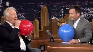 """Alan Rickman Saying """"Harry Potter"""" After Sucking Helium Is Almost Too Good"""