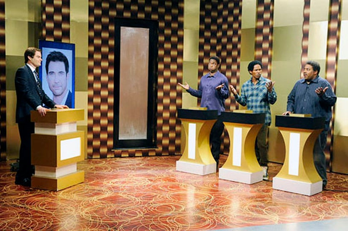 "Saturday Night Live - Season 38 - ""Jamie Foxx"" - Bill Hader, Jay Pharoah, Jamie Foxx and Kenan Thompson"