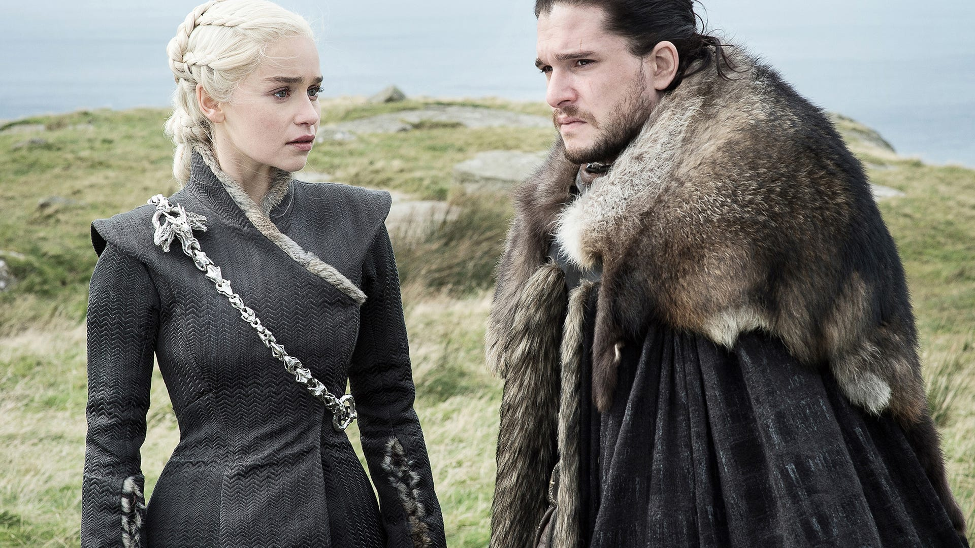 Emilia Clarke and Kit Harington, Game of Thrones