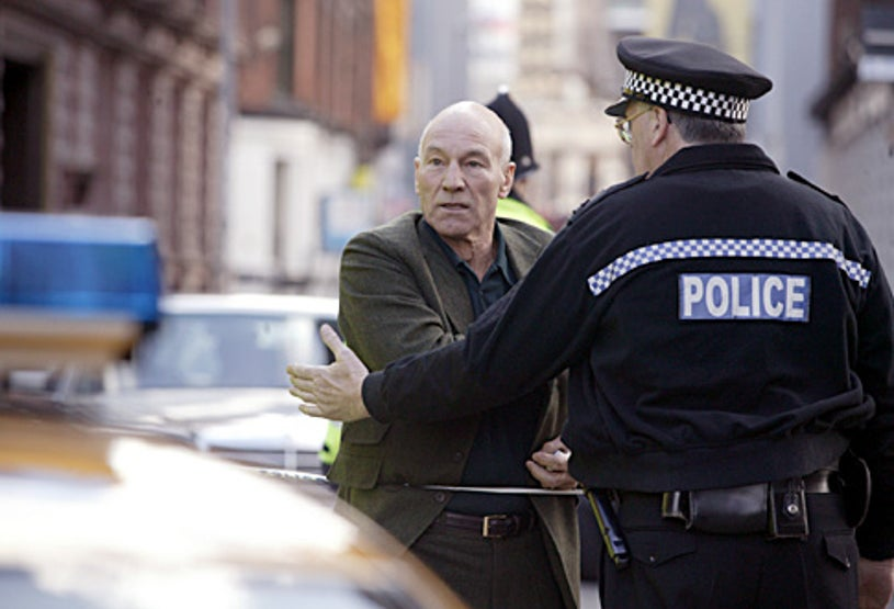 """The Eleventh Hour - """"Containment"""" - Patrick Stewart as Ian Hood"""