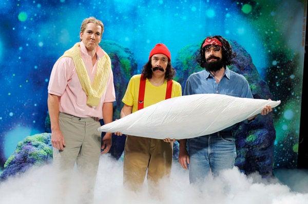 "Saturday Night Live - Season 37 - ""Eli Manning"" - Eli Manning, Fred Armisen and Bill Hader"