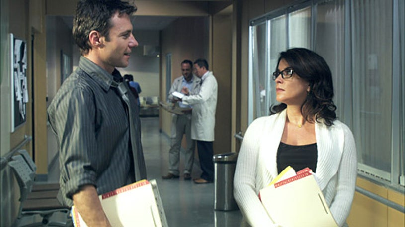 """Mental - Season 1 - """"Book of Judges"""" - Chris Vance as Dr. Jack Gallagher and Annabella Sciorra as Nora Sokoff"""