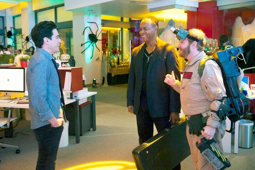 "A to Z - Season 1 - ""E is for Ectoplasm"" - Ben Feldman, Ray ParkerJr. and Henry Zebrowski"