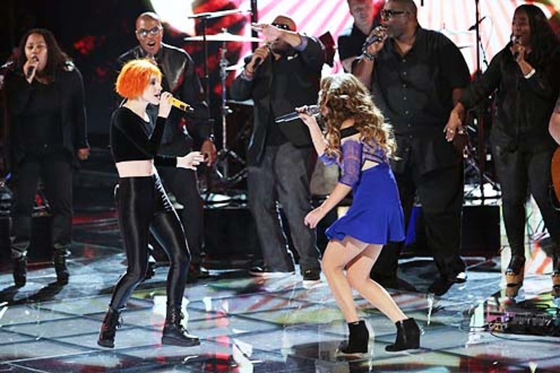 """The Voice - Season 5 - """"Live Finale"""" - Paramore and Jacquie Lee"""