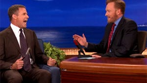VIDEO: Will Ferrell Finally Shaves Conan's Beard