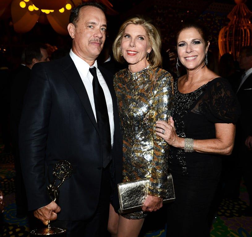 Tom Hanks, Christine Baranski and Rita Wilson - HBO's Annual Emmy Awards Post Awards Reception in West Hollywood, September, 23, 2012