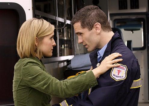 "Smallville - Season 8 - ""Abyss"" - Allison Mack as Chloe Sullivan and Sam Witwer as Davis Bloom"