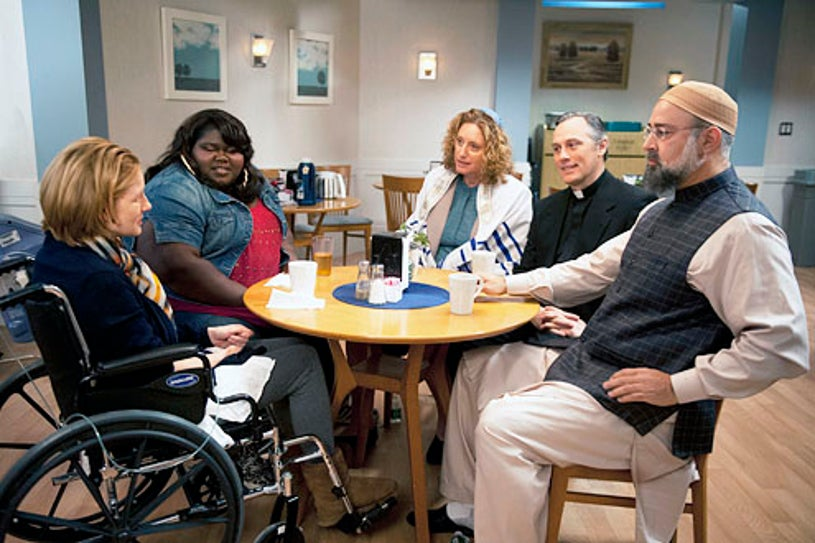 """The Big C: Hereafter - """"The Finale"""" - Laura Linney, Gabourey Sidibe, Judy Gold, David Aaron Baker and Ramsey Faragallah"""