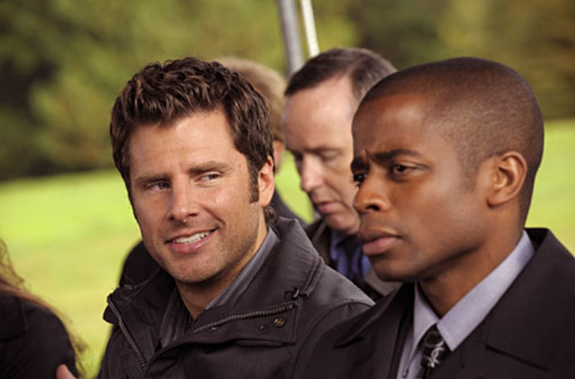 "Psych - Season 3, ""Six Feet Under the Sea"" - James Roday as Shawn Spencer, Dule Hill as Gus Guster"
