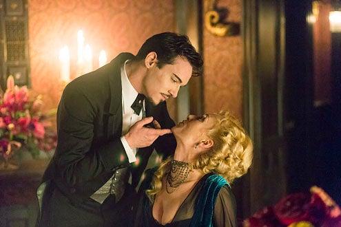 "Dracula - Season 1 - ""A Whiff of Sulfur"" - Jonathan Rhys Meyers and Victoria Smurfit"