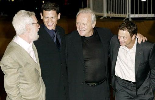 Robert Benton, Wentworth Miller, Anthony Hopkins, and Gary Sinise - Venice Film Festival, Aug. 2003