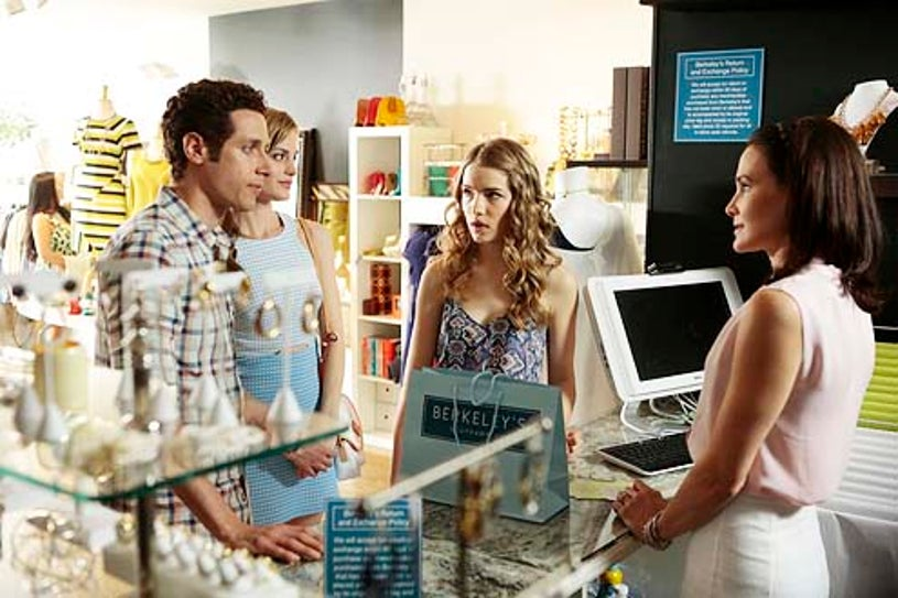 """Royal Pains - Season 6 - """"All in the Family"""" - Paulo Costanzo, Brooke D'Orsay and Willa Fitzgerald"""