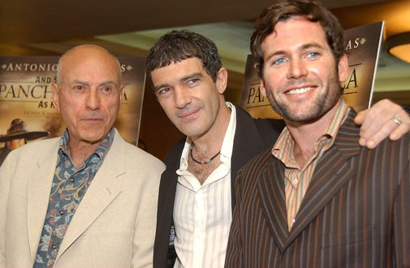 """Alan Arkin, Antonio Banderas and Eion Bailey - """"And Starring Pancho Villa As Himself"""" premiere, August 18, 2003"""