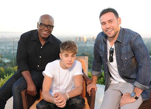 The X Factor - Season 2 - L.A. Reid, Justin Bieber, Scooter Braun