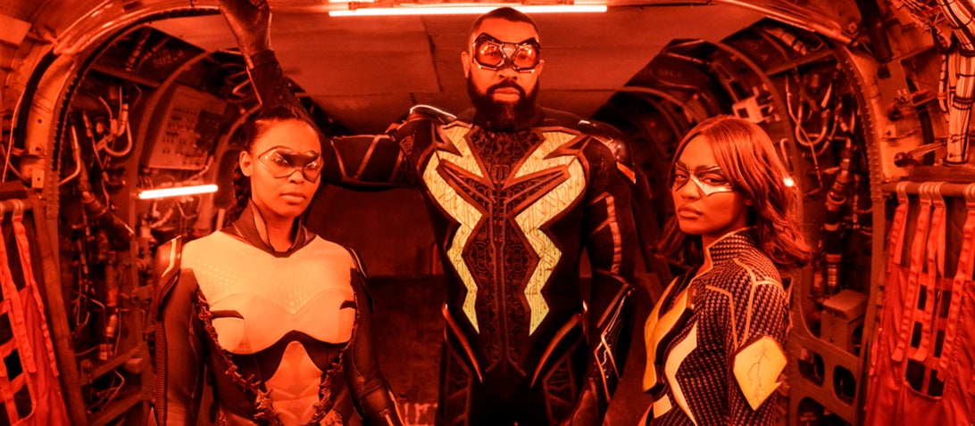 Nafessa Williams, Cress Williams, and China Anne McClain; Black Lightning