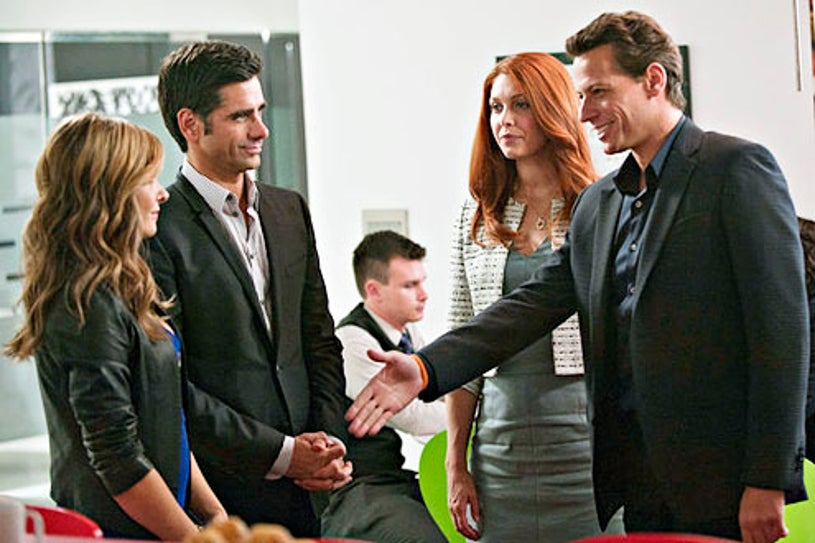 """Necessary Roughness - Season 3 - """"Snap Out Of It"""" - Callie Thorne, John Stamos and Ioan Gruffudd"""