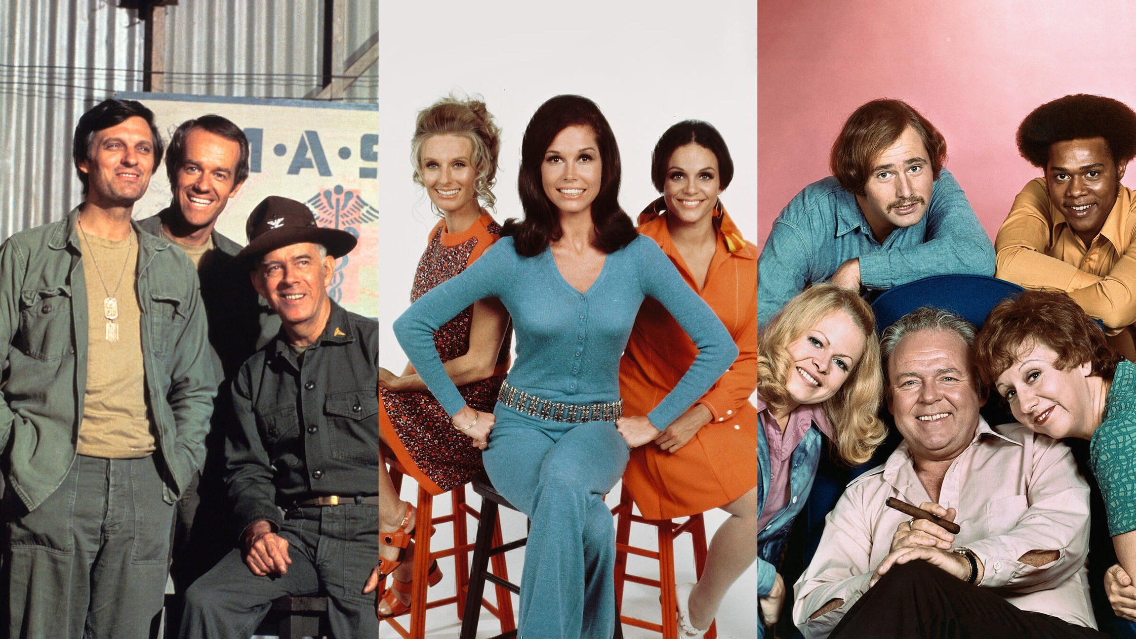 M*A*S*H, The Mary Tyler Moore Show, and All in the Family
