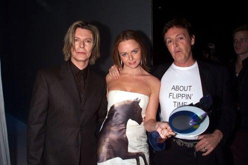 Paul McCartney, Stella McCartney and David Bowie - VH1 Vogue Fashion Awards, Oct. 2000