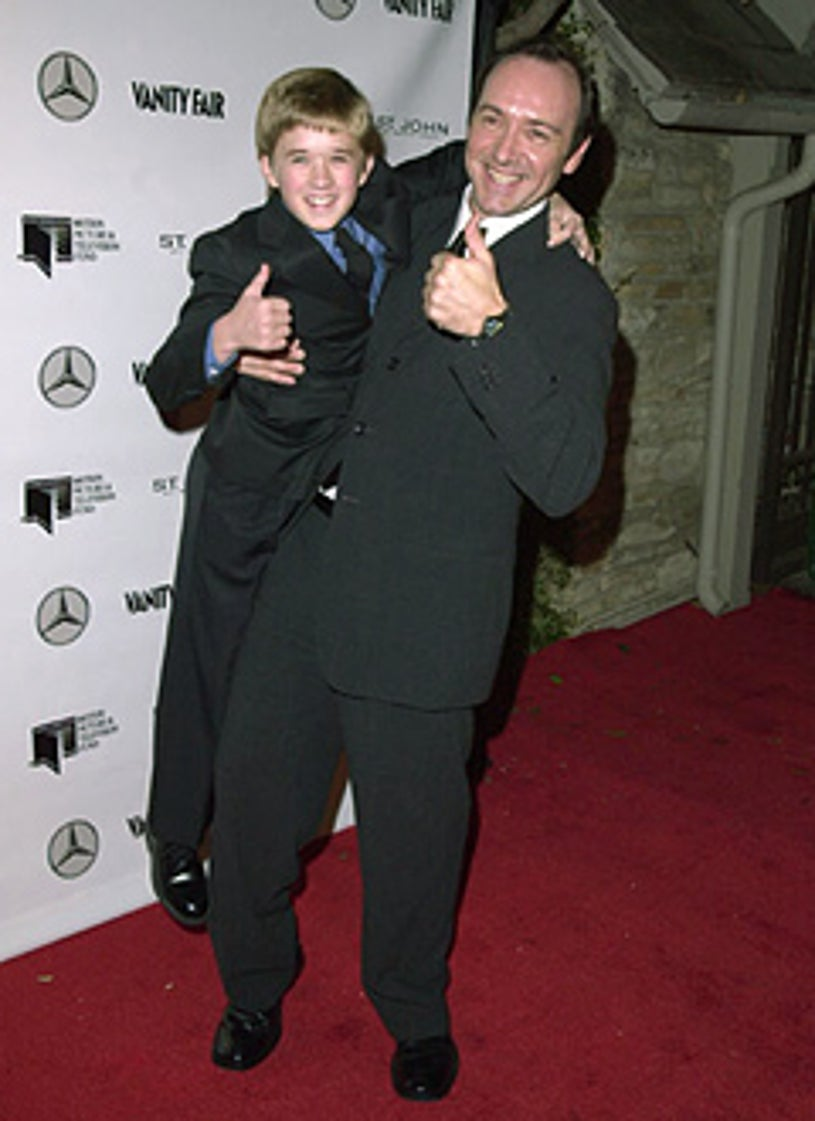 Kevin Spacey & Haley Joel Osment - Party for the Residents of The Motion Picture & Television Fund's Retirement Community, October 24, 2000