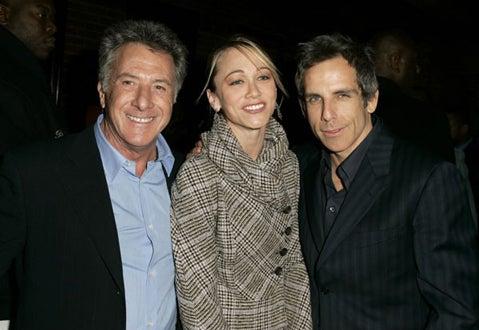 Dustin Hoffman, Christine Taylor and Ben Stiller - GQ Magazine's Men of the Year, Dec.  2004