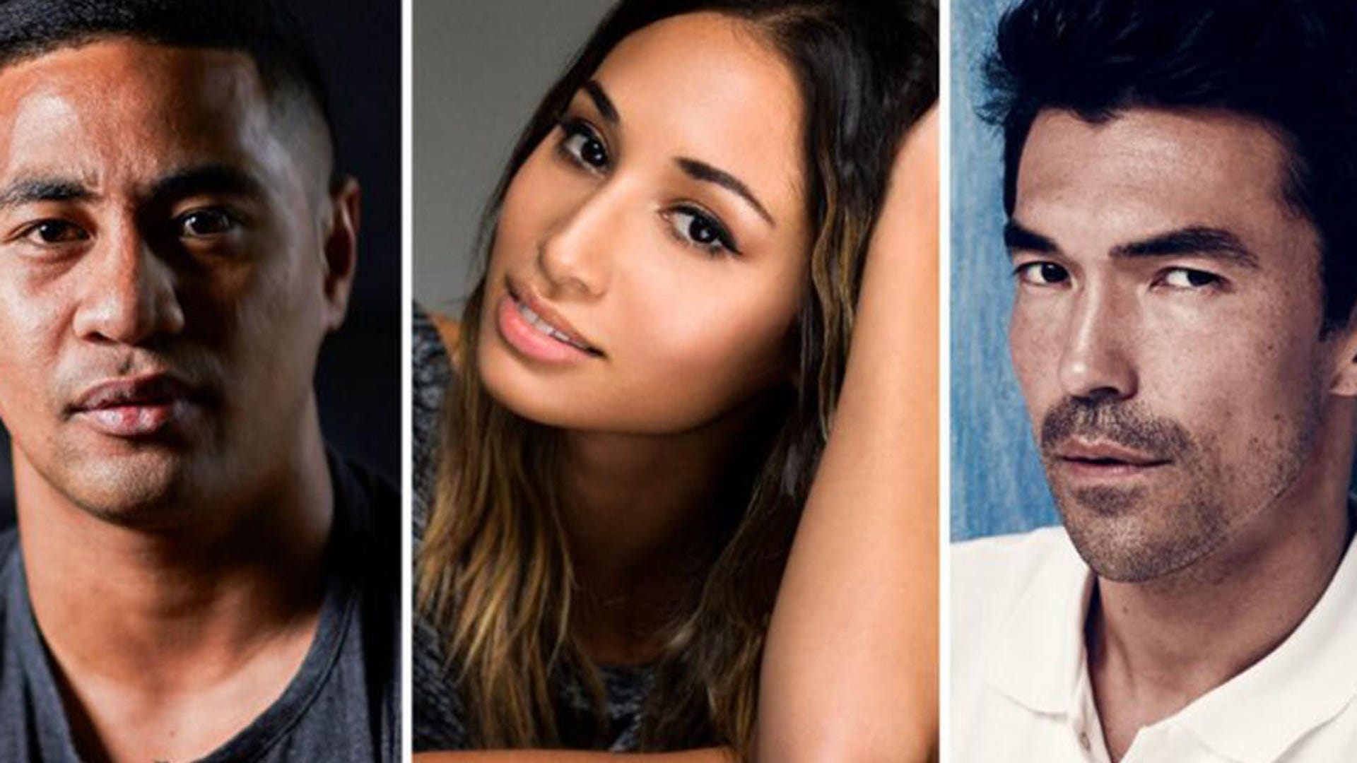 Beulah Koale, Meaghan Rath and Ian Anthony Dale