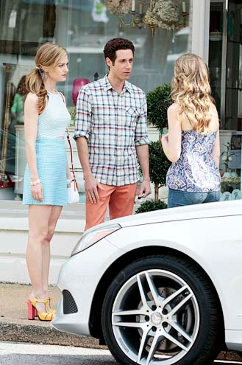 """Royal Pains - Season 6 - """"All in the Family"""" - Brooke D'Orsay, Paulo Costanzo and Willa Fitzgerald"""
