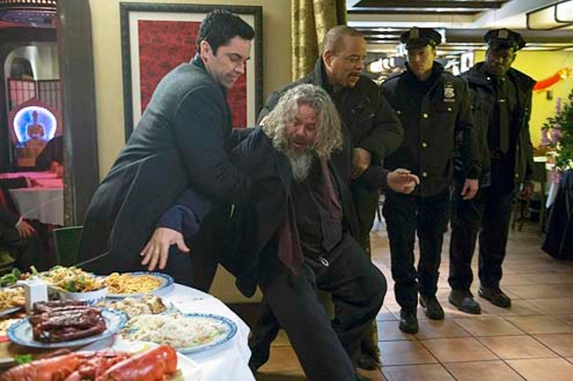 """Law & Order: Special Victims Unit - Season 15 - """"Wednesday's Child"""" - Danny Pino, Mark Boone Junoir and Ice-T"""