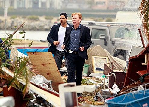 "CSI: Miami - Season 10 - ""Blown Away"" - Adam Rodriguez as Eric Delko and David Caruso as Horatio Caine"