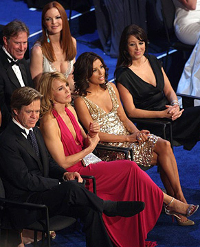 William H. Macy, Felicity Huffman, Eva Longoria and Marcia Cross - The 59th Annual Primetime Emmy Awards, September 16, 2007