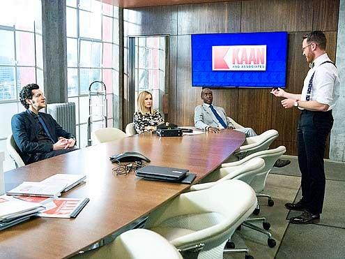 "House of Lies - Season 3 - ""Joshua"" - Ben Schwartz, Kristen Bell, Don Cheadle and Josh Lawson"
