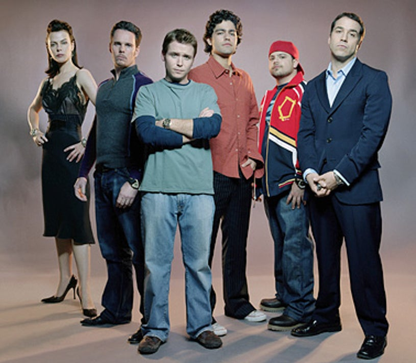 Entourage - Kevin Dillon, Jerry Ferrara, Adrian Grenier, Debi Mazar and Jeremy Piven