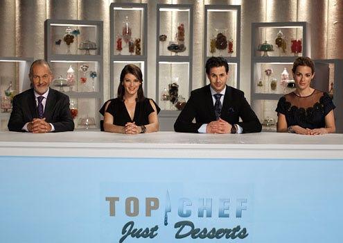 Top Chef: Just Desserts - Hurbert Keller, Gail Simmons, Johnny Iuzzini and Dannielle Kyrillos